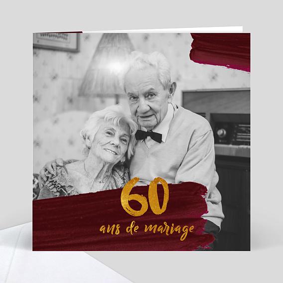 Anniversaire De Mariage 60 Ans Popcarte