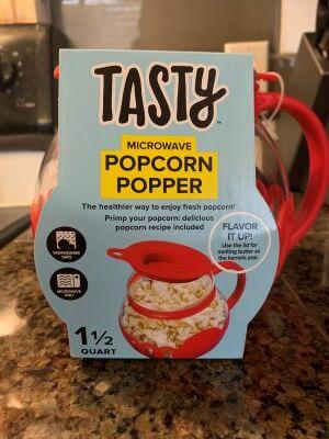 tasty microwave popcorn popper