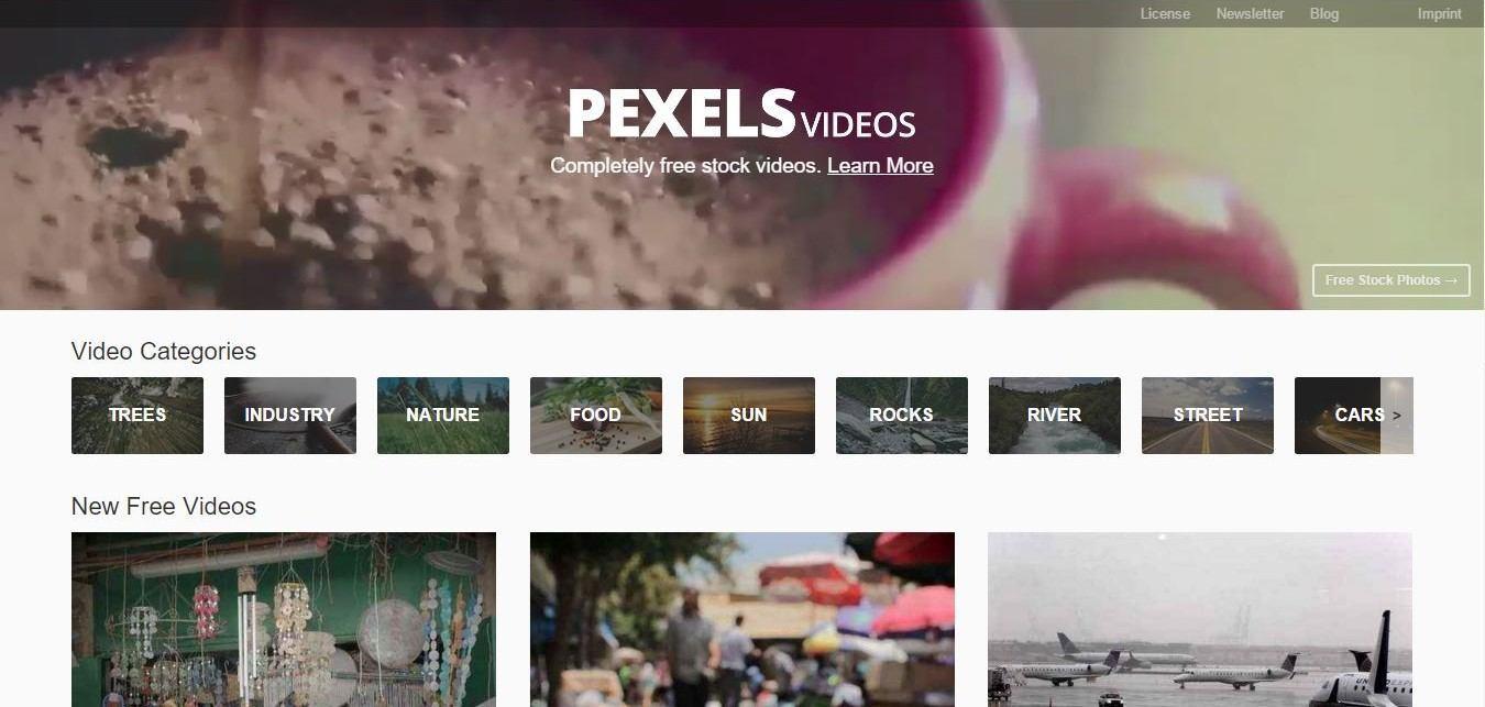 pexels banque de vidéos gratuites libres de droits
