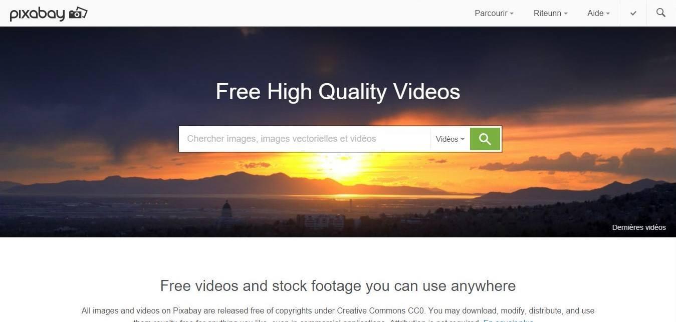pixabay banque de vidéos gratuites libres de droits