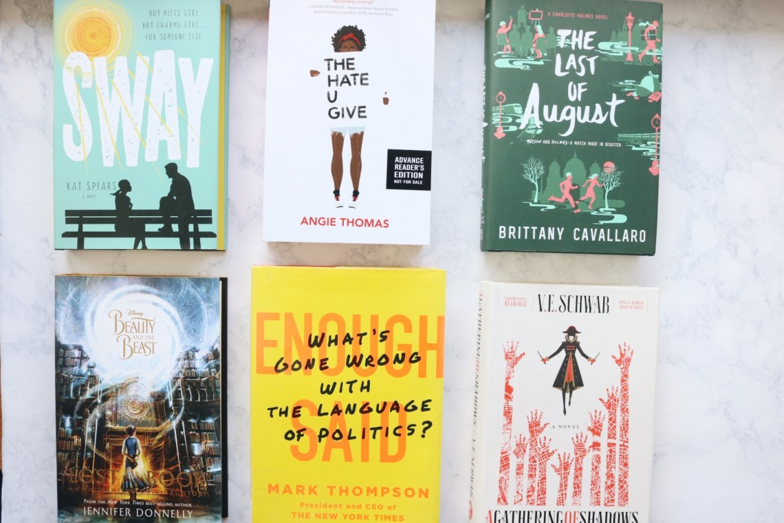 Flat lay photo of the six books i am hoping to read this month