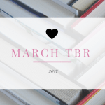 March TBR header image