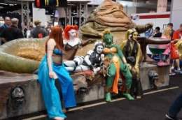 Jabba the Hutt and his slave girls