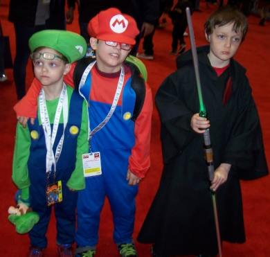 Mario and Luigi meet the Sith