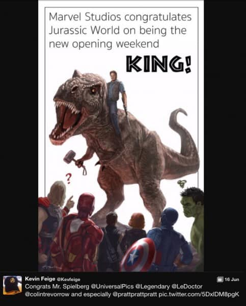 Even Marvel bows to the great TRex!!