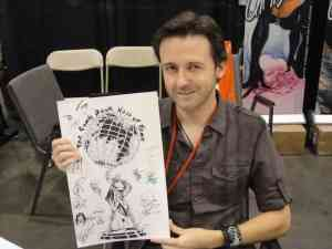 J. Scott Campbell presenting a sketch at a comic convention
