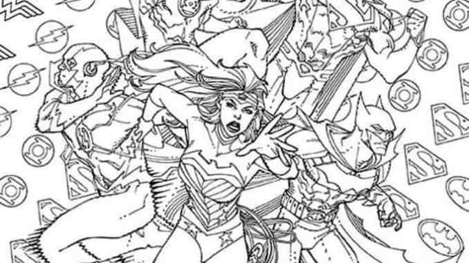 DC Comics Jumps On The Adult Coloring Book Trend With Variant Covers