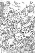 Batman/Superman # 28 by Freddie Williams