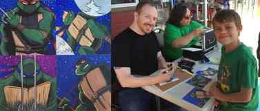Artist Brian Hess doing a custom sketch