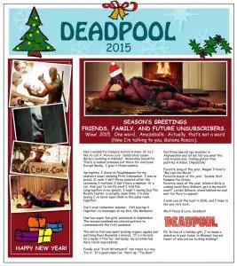 deadpool Christmas Letter