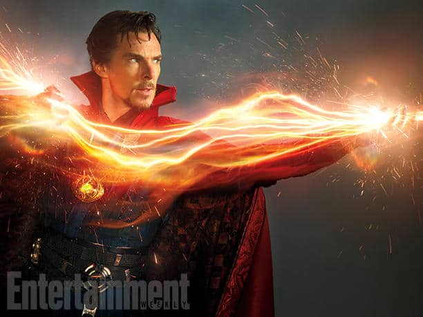 "Do You Believe in Magic? ""There's all sorts of craziness [in Doctor Strange],"" says Cumberbatch. ""Falling, flying, jumping, fighting, punching, getting punched. It's really rough and tumble."" Image Credit: Photograph by MICHAEL MULLER/© 2015 MVLFFLLC. TM & © 2015 Marvel. All Rights Reserved."