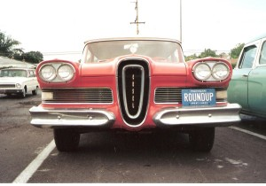 "1958 Edsel Roundup (Front View)"" by Josephew at en.wikipedia."