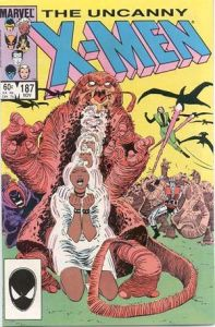 Uncanny X-Men #187 (Nov. 1984) featuring Dire Wraiths and cameo from ROM