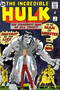 The Incredible Hulk #1 (May 1962). Cover art by Jack Kirby and Paul Reinman.