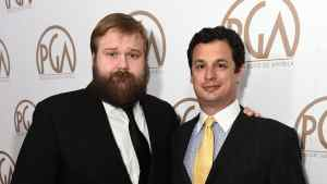 Robert Kirkman, left and Dave Alpert arrive at the 26th Annual Producers Guild Awards at the Hyatt Regency Century Plaza on Saturday, January 24, 2015, in Los Angeles. (Photo by Jordan Strauss/Invision for Producers Guild of America/AP Images)