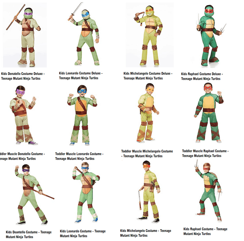 But check out this awesome variety of TMNT costumes. These are the type of costume any TMNT fan (boy or girl) would be proud to wear  sc 1 st  PopCultHQ & Teenage Mutant Ninja Turtle Halloween Costumes u2013 PopCultHQ