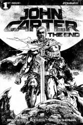 John Carter The End #1 - Cover H by Gabriel Hardman (30 Copy B&W Variant)