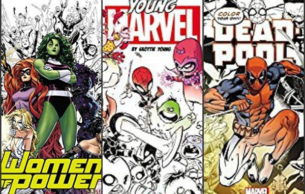Adult Coloring Books for the Comic Fan –