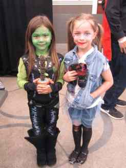 Gamora & Baby Groot and Harley Quinn
