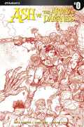 Ash vs. the Army of Darkness #0 - Cover E - Blood Red Incentive by Nick Bradshaw