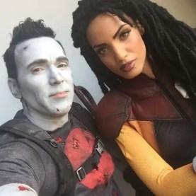 Bloodshot (Jason David Frank) and Livewire (Ciera Foster)