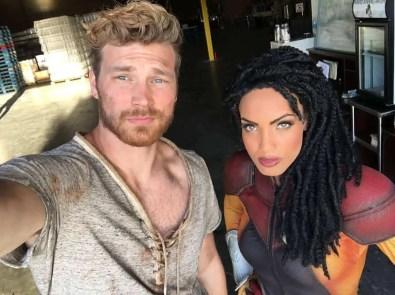 Derek Theler (X-O Manowar) and Ciera Foster (Livewire)