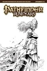 Pathfinder: Runescars #4 - B&W Incentive Cover by Jonathan Lau