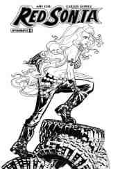 Red Sonja #8 - B&W Incentive Cover by Mike McKone