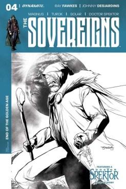 Sovereigns #4 - B&W Incentive Cover by Stephen Segovia
