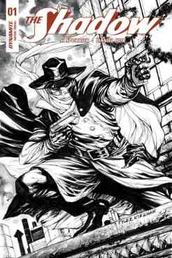 The Shadow #1 - B&W Incentive Cover by Tyler Kirkham