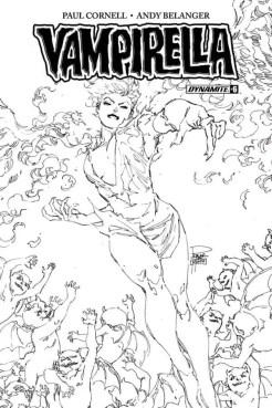 Vampirella #6 - B&W Incentive Cover by Philip Tan