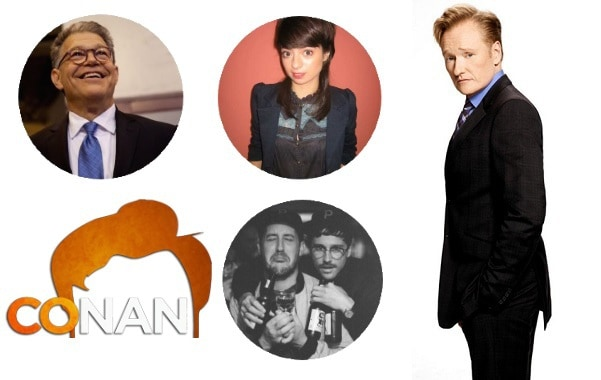 Last Night on CONAN - 8/14/17: Senator Al Franken | Kate Micucci | Portugal. The Man