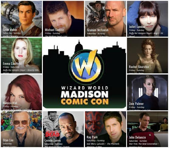 Updated - Wizard World Madison (Sept. 22-24): Celebrity Guests