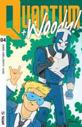 Quantum and Woody! #4 - Quantum and Woody Icon Variant by Fred Hembeck