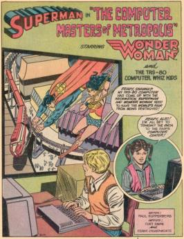 Superman-wonderwoman TRS 80