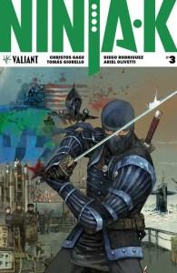 Ninja-K #3 - Interlocking Variant by Kenneth Rocafort