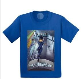 Mock-Up of the Shinobi Ninja Princess T-Shirt