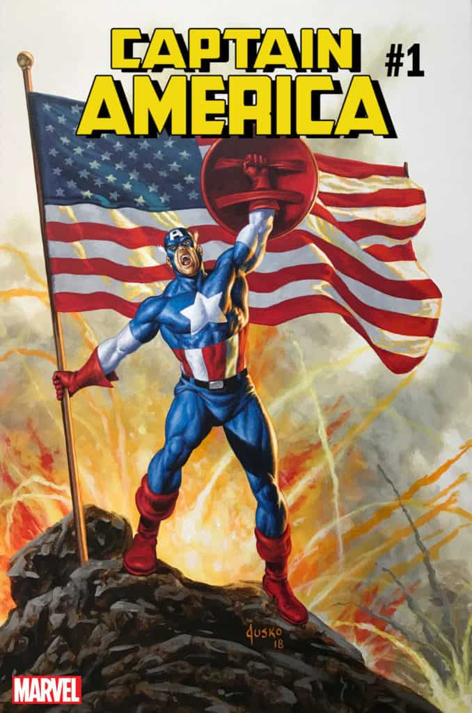 Captain America #1 - Variant Cover by Joe Jusko