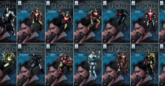 Tony Stark Iron Man #1 Variants