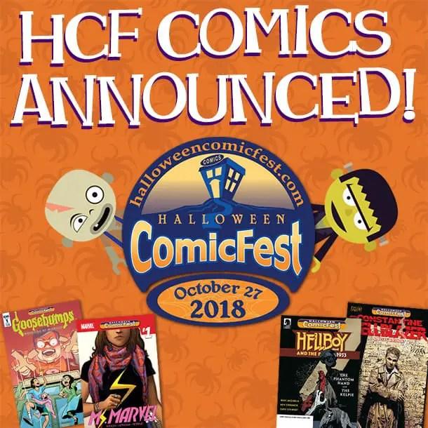 halloween comicfest 2018 comics announced