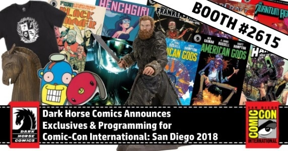 [SDCC 2018] Dark Horse Comics Announces Exclusives & Programming for Comic-Con International: San Diego 2018