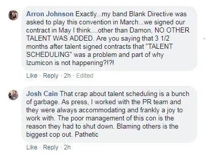 Izumicon comments