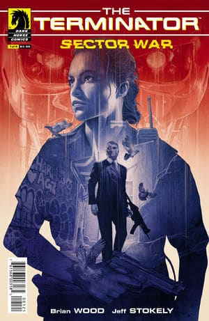 Terminator Sector War #1 Variant Cover by Grzegorz Domaradzki