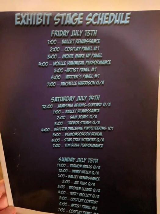 Estes Park show schedule