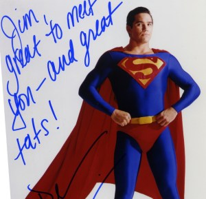 One of the two Dean Cain autographs that I got that day.