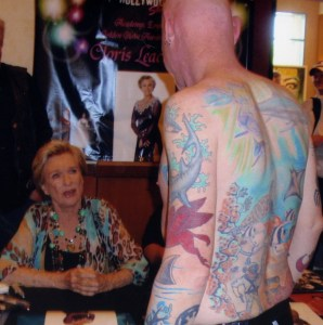 Cloris Leachman gets an eyeful of my ink.