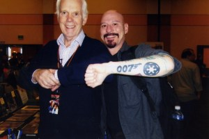 Jeremy Bullock loved the fact that I just happened to have had the Imperial insignia and the James Bond logo on the same arm. Bullock appeared in For Your Eyes Only and Octopussy and of course, Empire Strikes Back.