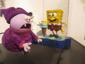 Figures from the Spongebob Christmas special.