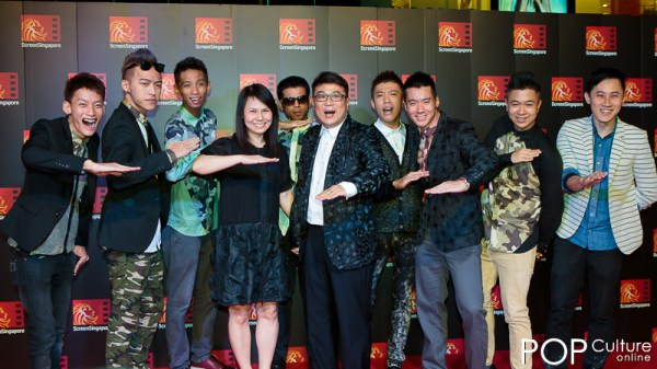 Screen Singapore 2012: The Last Tycoon Red Carpet - Jack Neo & Wife with cast of Ah Boys To Men