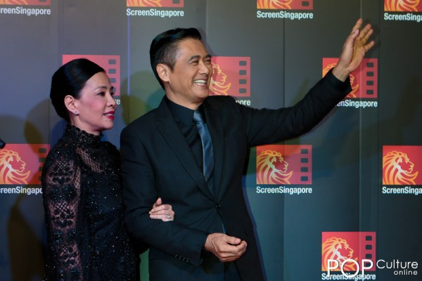 Screen Singapore 2012: The Last Tycoon Red Carpet - Chow Yun Fat and his wife Jasmine